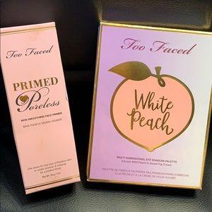 TooFaced White Peach palette & Primed Poreless